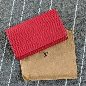 Vintage Louis Vuitton Epi Red Wallet